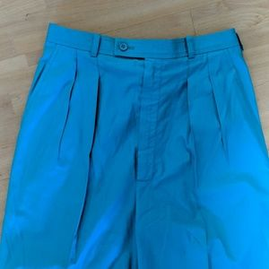YSL classic turquoise cotton pants